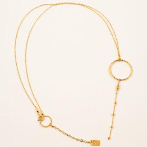 Naszyjnik z przewieszonym kołem i łańcuszkiem