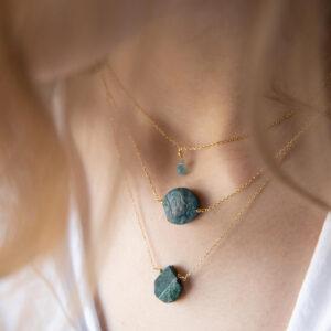 unikat – naszyjnik z apatytem okrągłym – kamienie do wyboru