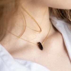 unikat – naszyjnik z bronzytem – kamienie do wyboru