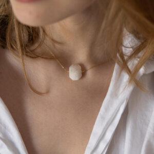 unikat – naszyjnik z kamieniem księżycowym – kamienie do wyboru