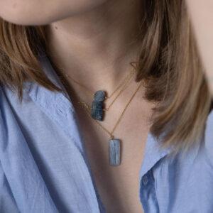 unikat – naszyjnik z okrągłym kyanitem – kamienie do wyboru