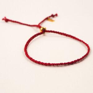 Jedwabna zaplatana bransoletka ze stoperem – różne kolory