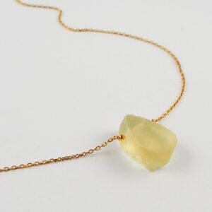 unikat – naszyjnik z cytrynem łezką – kamienie do wyboru