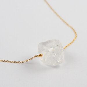 unikat – naszyjnik z bryłką kryształu górskiego – kamienie do wyboru