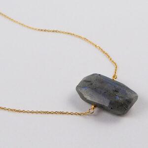 unikat – naszyjnik z regularnym labradorytem – kamienie do wyboru