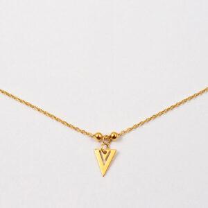 Naszyjnik z małym ażurowym trójkątem