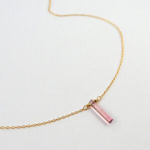 unikat – naszyjnik z turmalinem różowym – patyczek duży