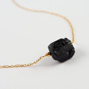 unikat – naszyjnik z czarnym turmalinem – kamienie do wyboru