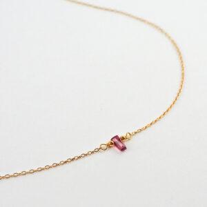 unikat – naszyjnik z turmalinem różowym – patyczek mały